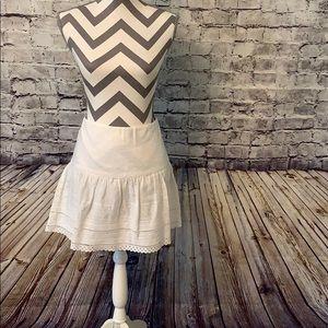White eyelet lace skirt
